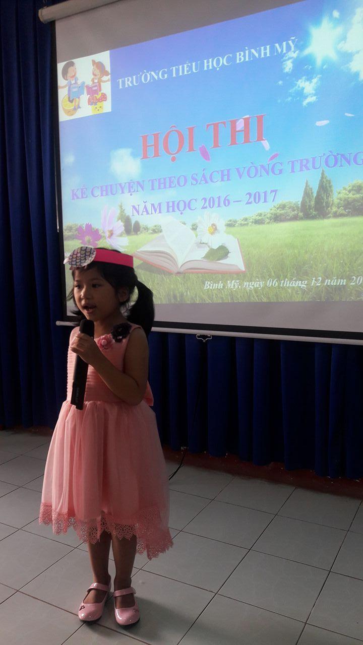 Hội thi kể chuyện theo sách vòng trường năm học 2016 – 2017