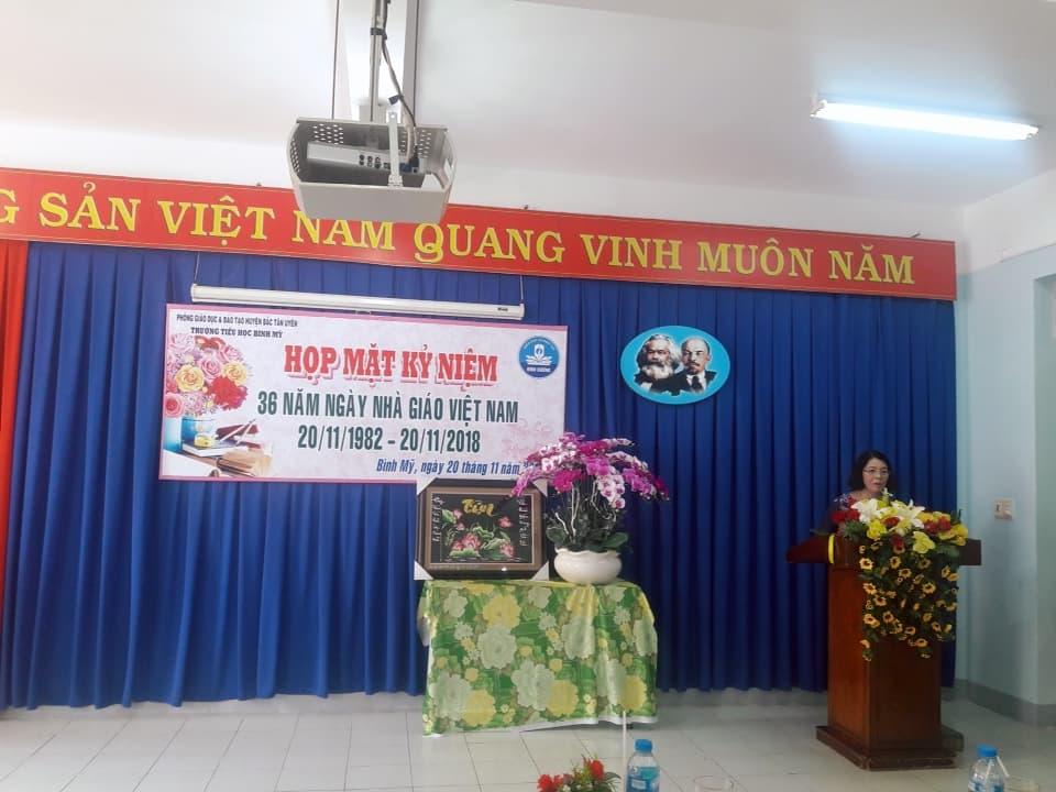 Lễ kỷ niệm 36 năm ngày Nhà giáo Việt Nam (20/11/1982 – 20/11/2018) Trường Tiểu học Bình Mỹ